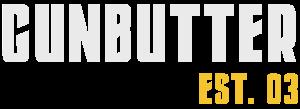 Gun Butter logo - white